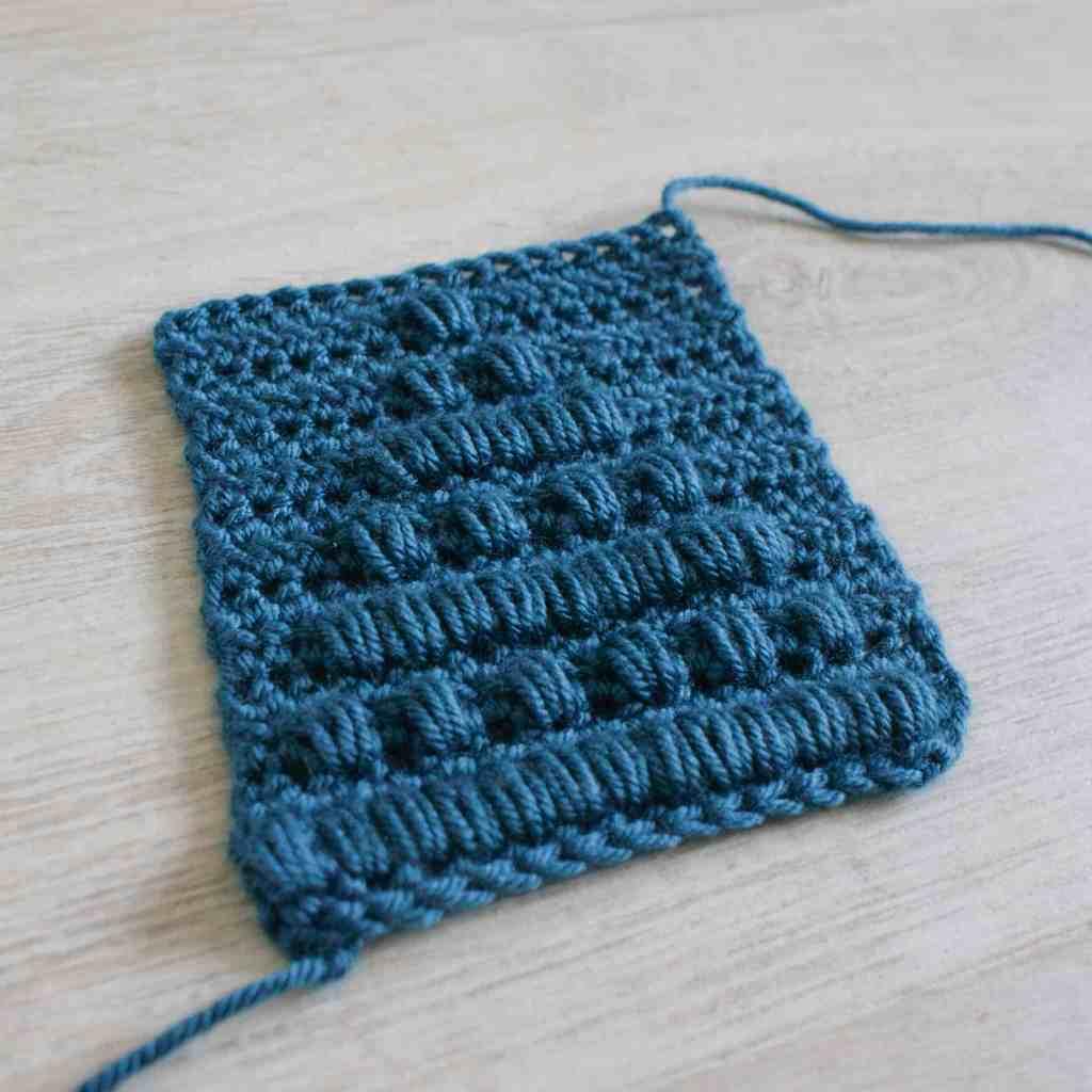 Crochet bobble stitch swath