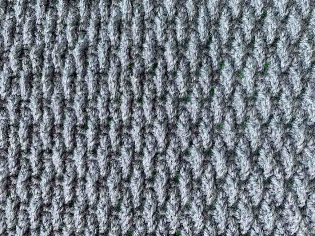 the crochet alpine stitch from above