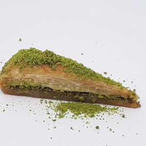 Traditional Dessert Carrot Slice Baklava with Pistachio