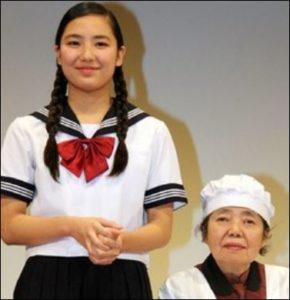 樹木希林と内田裕也の孫娘内田伽羅と樹木希林の共演の画像