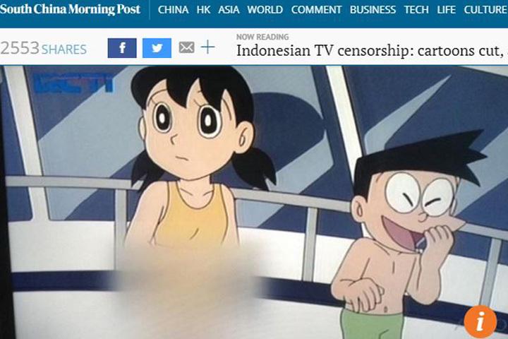 【悲報】インドネシアのドラえもん、規制しすぎて逆にドエロくなってしまう