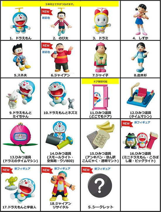 【全19種】「チョコエッグ ドラえもんプラス」が7月16日発売決定!ひみつ道具やシークレットが新たにフィギュア化!
