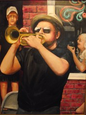 Jazz: Part III, 2016, oil on canvas, 40 x 30 inches