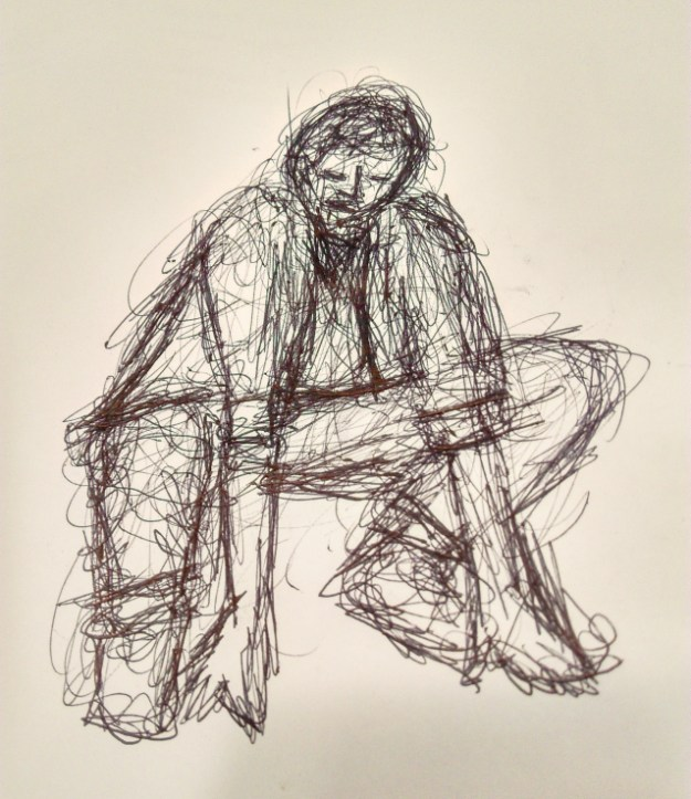 Man, sketch by Zuza.