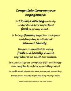 BBQ Wedding Packages