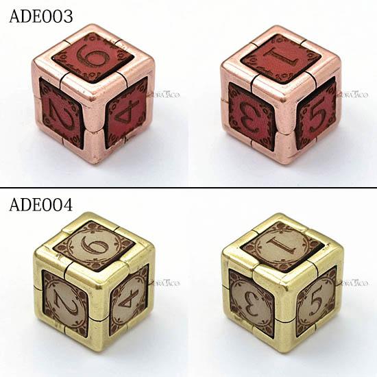 ADE 革金属サイコロ アイアンダイ IRONDIE