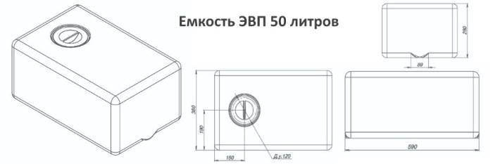 Емкости серии ЭВП со склада в Минске. ЭВП -50