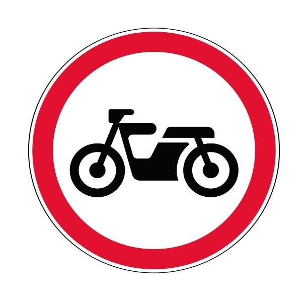 Запрещающий дорожный знак 3.5 - Движение мотоциклов запрещено
