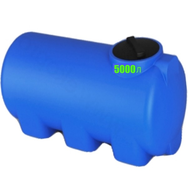 Пластиковые бочки, емкости на 5000 л из пищевого полиэтилна. Горизонтальная. Купить в Минске и по Беларуси