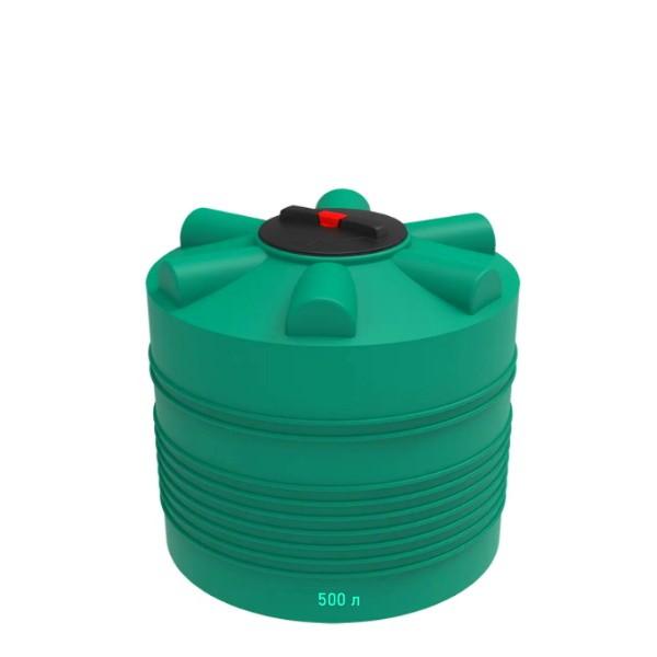 Зеленая ЭВЛ-500 пластиковая емкость для жидкостей на 500 литров в Минске