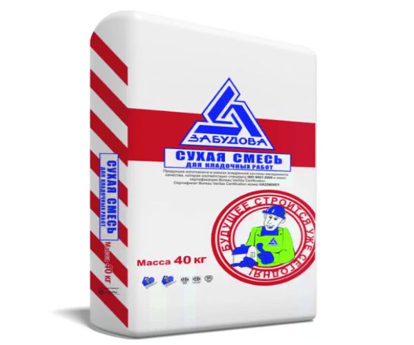Летний клей для газобетонных (газосиликатных) автоклавных блоков Забудова по 40 кг