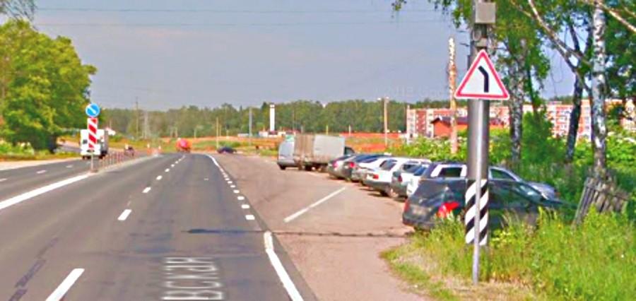 Дорожный знак 1.11.2 Опасный поворот на фото