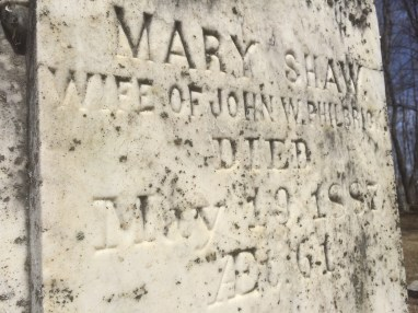 Mary is buried in Pine Grove Cemetery in Waterville, ME. (Photograph by author)