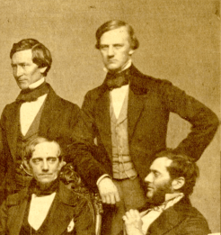 Dr. Samuel Parkman, pictured standing on the right with other members of the Boston Society for Medical Improvement, was involved in the medical reform community.