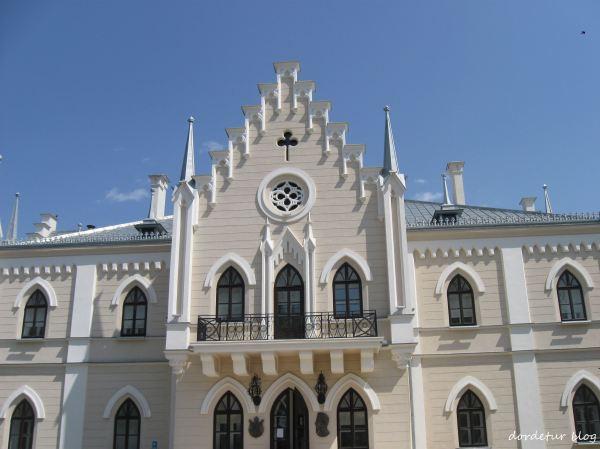 Palatul de la Ruginoasa, fatada principala
