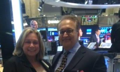 With Doreen Mogavero, first woman to own a brokerage firm on the floor of the NYSE