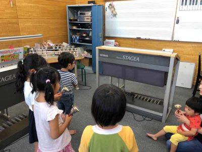 レッスン 風景 幼児 小児 クラス 久留米 ピアノ グループ 教室
