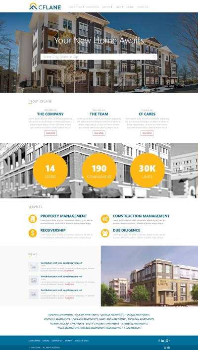 Visual Design for CFLane Home Page (Photoshop)