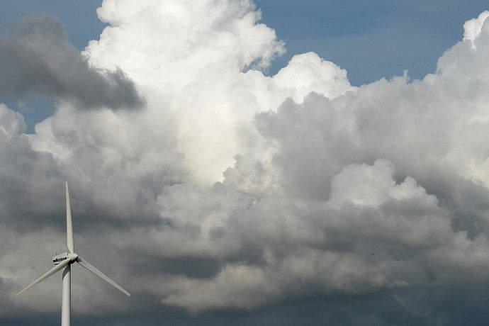 Wolken über Jütland