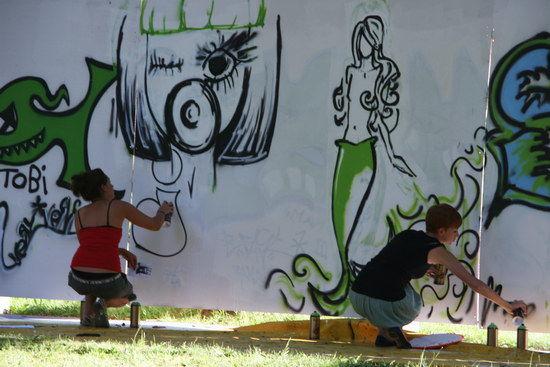 Graffiti Workshop  Foto: Ingrid Kreiter