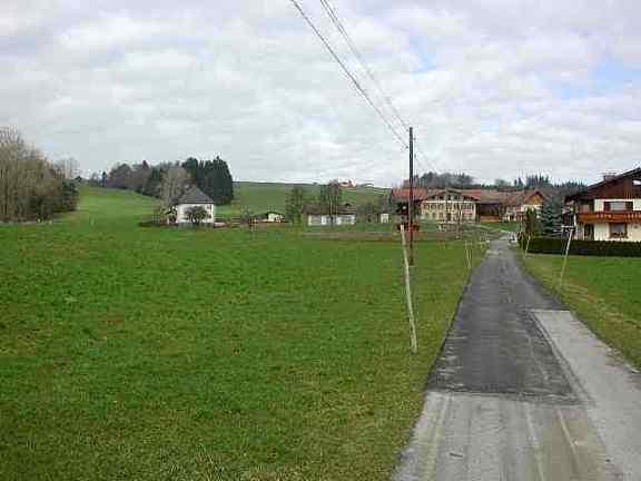 Bereich der oberen Burg im Ortsteil Au der Gemeinde Obertrum/ See