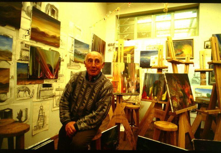 Mariano Alique in seinem Atelier, Bolivien