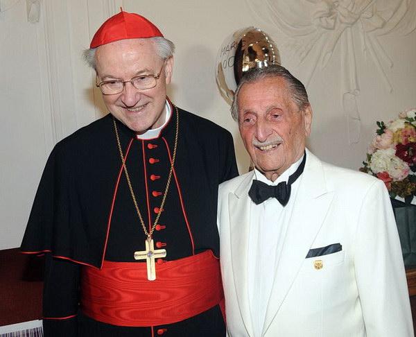 Erzbischof Alois Kothgasser und Marko Feingold. Fotos (2): Manfred Siebinger, Salzburg