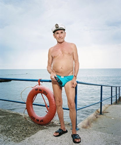 Rob Hornstra - Mikhail Pavelivich Karabelnikov (77), Sochi, Russia, 2009  © Rob Hornstra / Flatland Gallery. From: An Atlas of War and Tourism  in the Caucasus (Aperture, 2013)