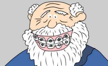 Zahnspange   Cartoon by Honzi