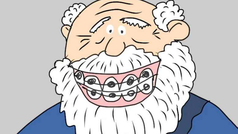 Zahnspange | Cartoon by Honzi