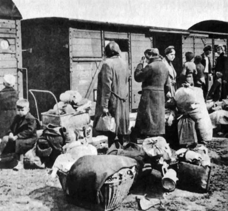 Flüchtlinge in der Tschechei vor der Ausweisung 1945