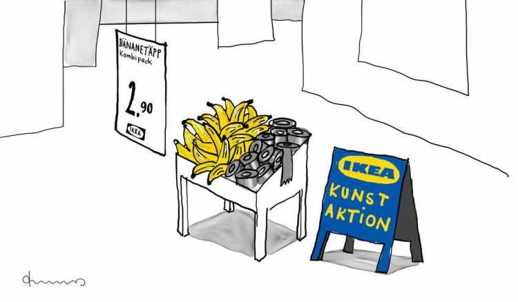Kunst Bananen