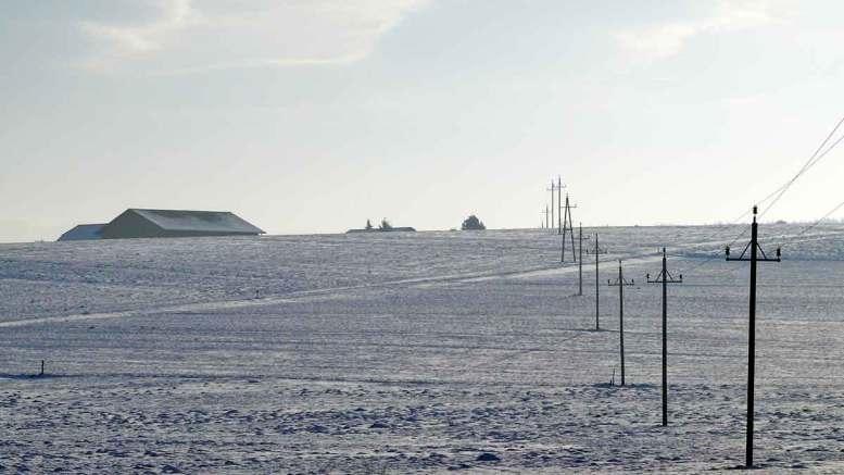 Winter im Dorf - Blick auf Asten