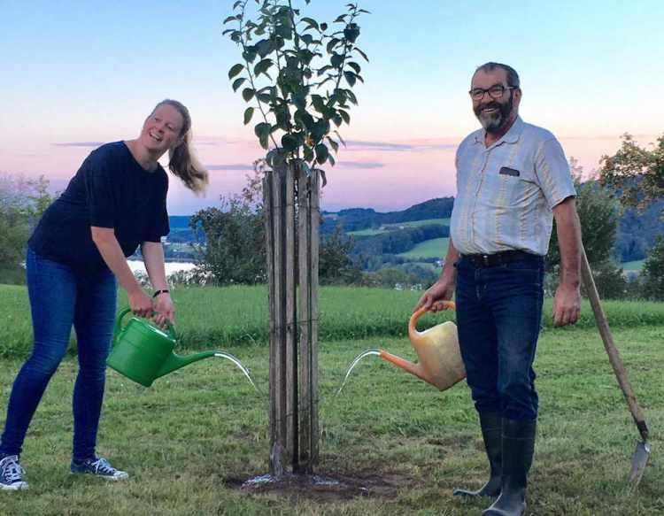 Hans Steiner und seine Tochter Elisabeth