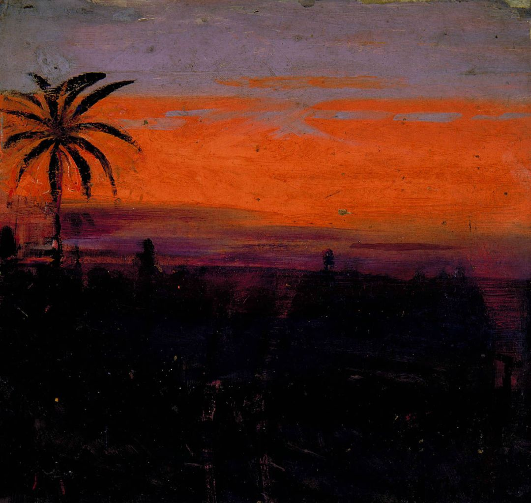 Abbott Handerson Thayer - The Sky Simulated by Red Flamingoes