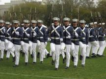 The 2015 Summerall Guards during their first performance of The Citadel Series.