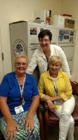 I stopped by the office of the commandant to say hello to Ellen, and met, Susan Redmond and Susan Spurlock, both Citadel legends.