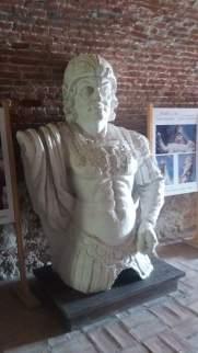 Bustul lui Carol al VI-lea expus în caponieră