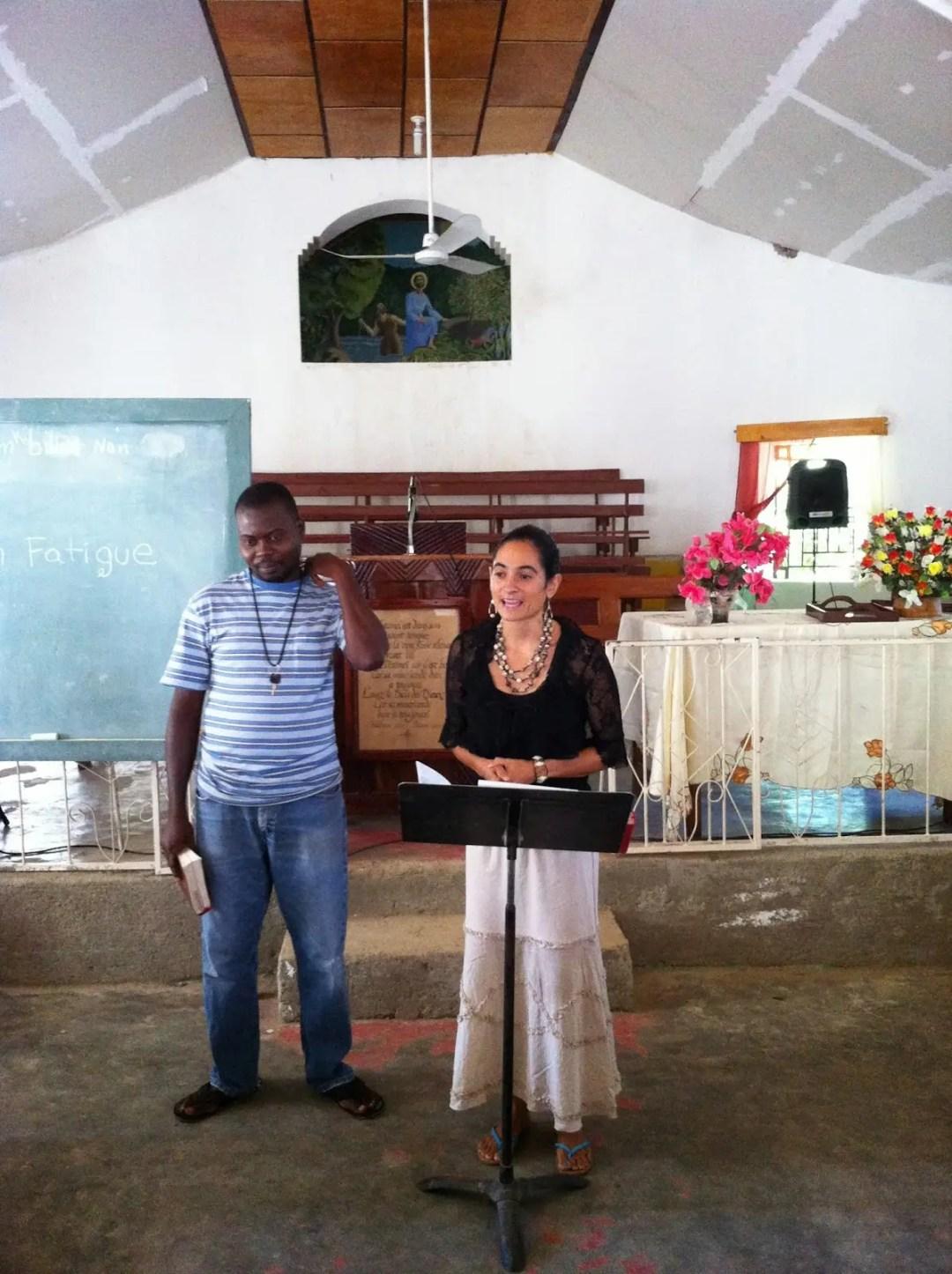 Speaking in Haiti