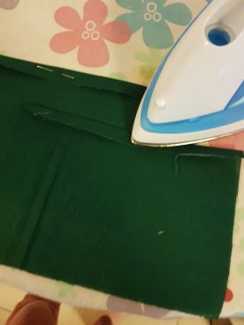 Iron before sewing