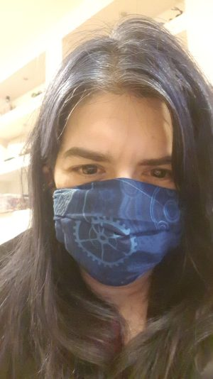 my face mask is ready to wear - smile with your eyes!