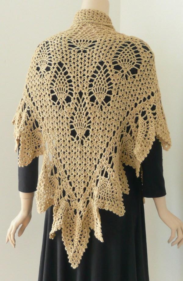 Romantic Pineapple Shawl Doris Chan Crochet