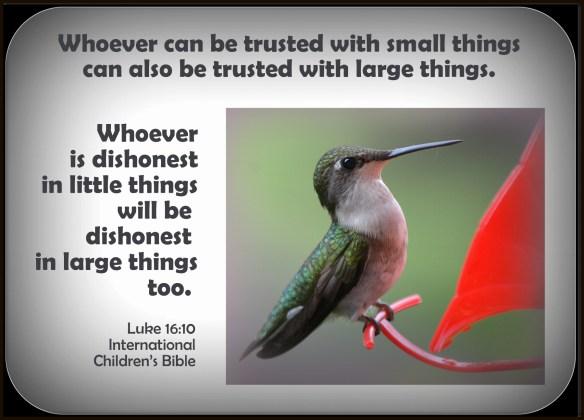Luke 16-10