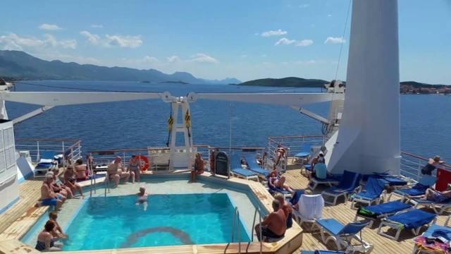 Marella Celebration Sun Decks and Tendering ashore.