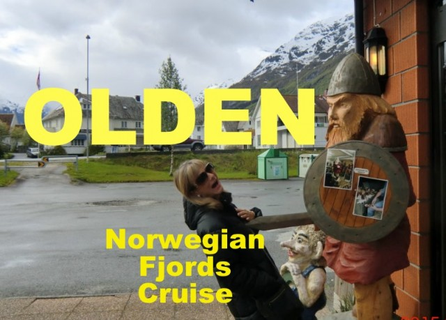 Olden, a cruise stop in the Norwegian Fjords