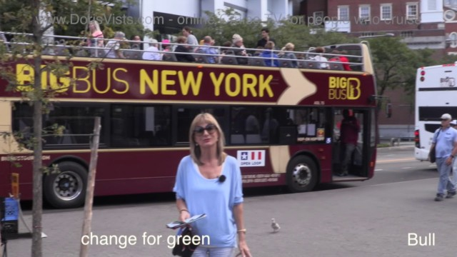 New York Uptown Bus Tour, the Big Bus Blue Route, Park and where John Lennon was tragically shot