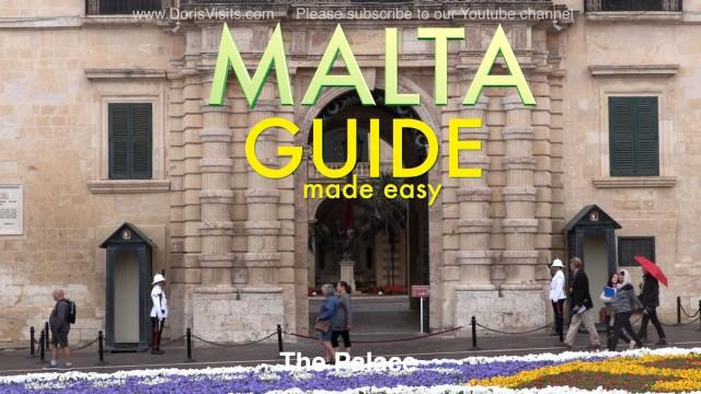 Malta – VALLETTA WALKING GUIDE – Map – tourist brochure
