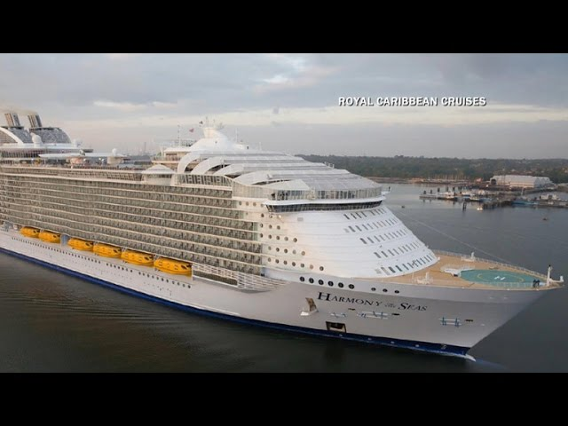 Largest cruise ship – 6,870 guests. Symphony of the Seas, sails October 2018