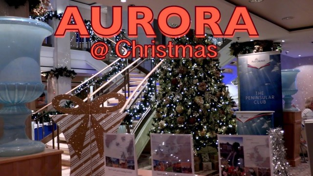 Aurora all dressed up for Christmas