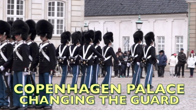 Copenhagen Changing the Guards daily parade at the palace